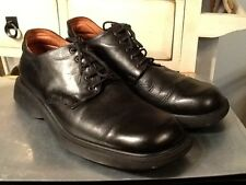 Todd Welsh Black Oxford Men's Dress Shoes Leather Sole EU 44 US 10.5 Italy