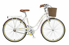 "Viking Crystal Ladies Traditional Dutch Style Bike 26"" Wheel White Bicycle VG402"