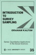Introduction to Survey Sampling (Quantitative Applications in the Social Science