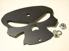 Harley Davidson FX Custom Front Mount Cover Texture Black Skull Bell Hanger