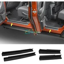 Plate Door Sill Plates scuff Guards for Jeep Wrangler JK Unlimited Rubicon 07-15