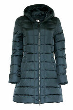 The North Face Women GOTHAM Hooded Parka Goose Down Navy Jacket Coat Size L New