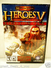 HEROES OF MIGHT & MAGIC V - HAMMERS OF FATE - EXPANSION - PC - GAMES - BRAND NEW