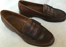 Bass Men's Wayfarer Penny Loafers Brown Leather Casual Slip-On Shoes Men's 7 B