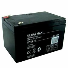 ULTRAMAX NPG12-12 12V 12AH (as 14Ah & 15Ah) EMERGENCY LIGHT LIGHTING GEL BATTERY