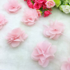 New Hot 1 Yard Pink Flower Chiffon Wedding Dress Bridal Fabric Lace Trim
