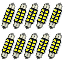 10pcs LED 36mm Pure White canbus C5W Bulbs 2835 SMD License Plate Light