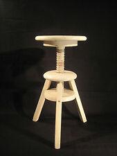 Ancien Tabouret à Vis Bois Atelier VINTAGE LOFT Architecte Horloger wooden stool