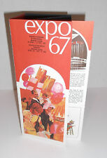 EXPO 67 BROCHURE Vintage Accordion Style 10 Page Foldout FREE SHIPPING