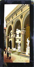VIEW OF THE LOGGIA DELLA SIGNORIA. FIRENZE. INTARSIO OF PIETRE DURE. ITALY. XIX.