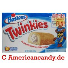 1x 10 Hostess Twinkies (10 single Cakes) 385g (Auswahl aus 3 Sorten) (31,13€/kg)