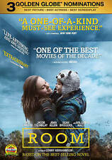 ROOM (DVD 2016) BRAND NEW~ BRIE LARSON & JACOB TREMBLAY STAR~