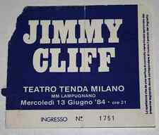JIMMY CLIFF : Rare billet concert Collector ticket ITALY Milano 13/06/1984