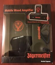NEW Jagermeister Gift Set Box with Mobile Wood Amplifier For iPhone
