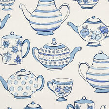 Studio G Teatime Blue Fabric Remnant   50cm x 40cm 100% Cotton