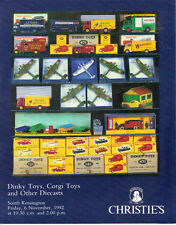 CHRISTIE'S DINKY CORGI DIECASTS TOYS Edward Collection Auction Catalog 1992
