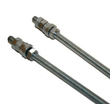 2 x M6 Threaded Bar Rod Studding 6 x 300mm With Washers & Nuts (136s)