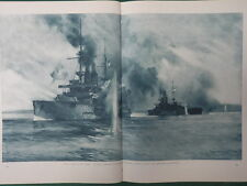 1915 HMS ALBION GROUNDED AT GALLIPOLI HMS CANOPUS RESCUE WWI WW1 DOUBLE PAGE