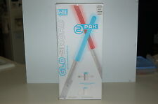 Wii GLO-SWORD (2 PACK) By GAMEXPERT, #GS-1181RB, NEW IN BOX