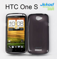 Jekod black TPU gel silicone case cover + screen protector for HTC One S