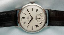 Fine Vintage Stainless Steel Omega 15J Manual Wind Men's Wristwatch ~ White Dial
