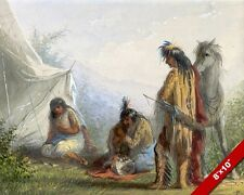 NATIVE AMERICAN INDIAN MARRIAGE COURTSHIP GIFT PAINTING ART REAL CANVAS PRINT
