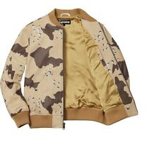 Supreme Leather MA-1 Jacket Desert Camo SS17 Size Large NO RESERVE!!!