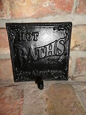 Antique Style Cast Iron Towel Hook and Sign Nostalgia bathroom sign, Wall Hooks,