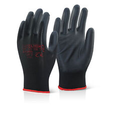 10 Pairs Click 2000 EC9BLXL PU Coated Precison Gloves BLACK Colour XL