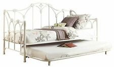 Homelegance 4961DB-NT Metal Daybed with Trundle, White Finish, New, Free Shippin