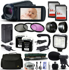 Canon VIXIA HF R600 HFR600 HD Camcorder Video Camera + 128GB Accessories Bu