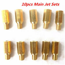 10X Main Jet 10 Sizes 118-160 For Keihin OKO KOSO PE PWK Fuel Carburetor Kits