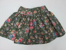 RED VALENTINO GONNE WOMENS OLIVE GREEN PINK FLOWER BLACK POLK DOT MINI SKIRT 2