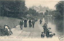 Postcard London Horse guards and war office from St James park 152 LL   (4)