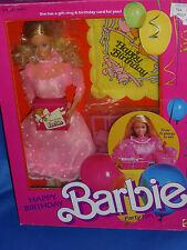 ♥ NRFB Vintage Super Star Ära 1984 vintage Happy Birthday Barbie Geburtstag Set
