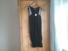 Hooch black sleeveless v neck bubble hem dress top with silver sequins Size S