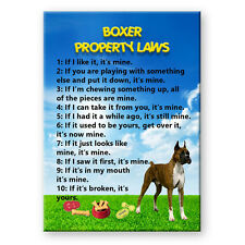 BOXER Property Laws FRIDGE MAGNET Steel Cased New DOG