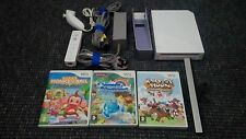 White Nintendo Wii Console Tested Working With 3 Games