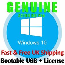 Microsoft Windows 10 Professional Operating System License Key + Bootable USB OS