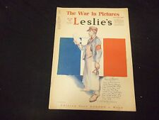 1918 NOVEMBER 16 LESLIE'S WEEKLY MAGAZINE - GREAT COVER, PHOTOS & ADS - ST 2223