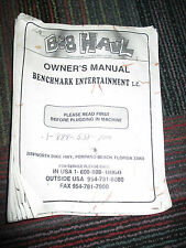 BENCHMARK BIG HAUL REDEMPTION GAME OWNER'S MANUAL, GUC LOTS OF INFORMATION