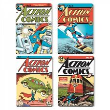 Superman four cork backed drink coasters set   (hb)