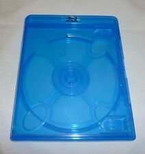 (1) Empty Blu-ray Case 12mm 1-Disc DOUBLE w/ Logo Authentic Replacement NEW!