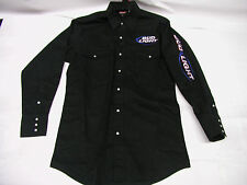 Bud Light Embroidered Long Sleeve Button Down Dress Shirt Black XLarge XL