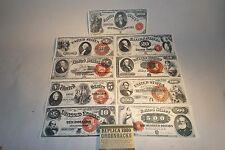 Civil War Western 1800 Replica Money1880 $1 $2 $5 $10 $20 $50 $100 $500 $1000