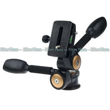 20KG 360° Two handle Hydraulic Damping 3-Way Pan & Tilt Head For Tripod Monopod