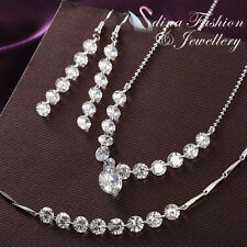 18K White Gold Plated Simulated Diamond Round Cut Eternal Love Cluster Set