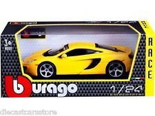 BBURAGO McLAREN MP4-12C YELLOW 1/24 DIECAST NEW IN BOX 18-21074YL