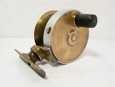 "Vintage laiton antique alliage 3"" côté casting fishing reel"
