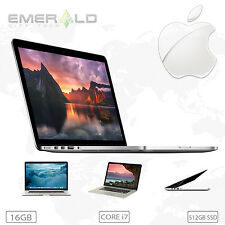 Apple MacBook Pro 15 RETINA Core i7 2.4Ghz 16GB RAM 512GB SSD - 1 Year Warranty!